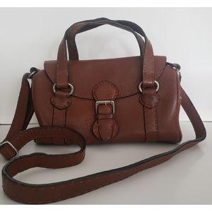 Zara Cognac Leather Crossbody Bag